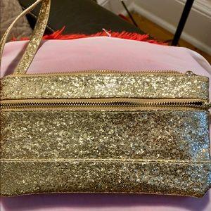 Gold cosmetics bag 🌹❤️